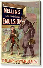 1890s Uk Mellin�s Emulsion Coughs Acrylic Print by The Advertising Archives