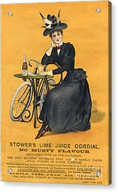 1890s Uk  Stowers Lime Juice Cordial Acrylic Print by The Advertising Archives