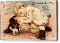 1890s Usa Babies Hoytes Cologne Dogs Acrylic Print by The Advertising Archives