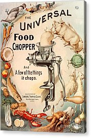 1899 1890s Usa Food Choppers Mincers Acrylic Print by The Advertising Archives
