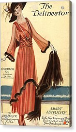 1910s Usa Womens Magazines Clothing Acrylic Print by The Advertising Archives