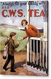 1920s Uk Tea Golf Cws Acrylic Print by The Advertising Archives