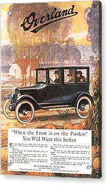 1920s Usa Overland Cars Acrylic Print by The Advertising Archives