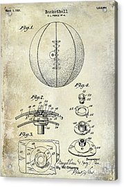 1927 Basketball Patent Drawing Acrylic Print