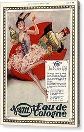 1928 1920s Uk 4711 Eau De Cologne Art Acrylic Print