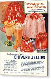 1930s Uk Chivers Jelly Desserts Acrylic Print by The Advertising Archives