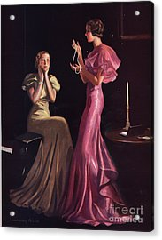 1930s Uk Womens Evening Gowns Dresses Acrylic Print by The Advertising Archives
