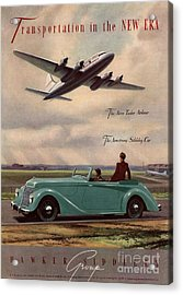 1940s Uk Aviation Hawker Siddeley Cars Acrylic Print by The Advertising Archives