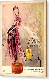 1940s Usa Coty   Laimant Womens Acrylic Print by The Advertising Archives
