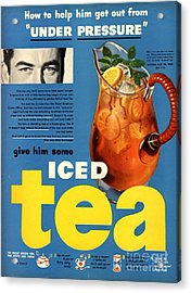 1950s Usa Iced Tea Acrylic Print by The Advertising Archives