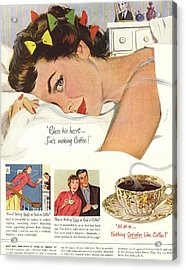 1950s Usa Sleep Sleeping Coffee Smell Acrylic Print