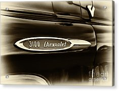 3100 Chevrolet Truck Sepia Acrylic Print by Tim Gainey