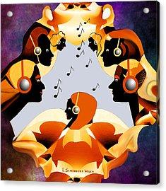 693 -  Listen  To  Music   Acrylic Print