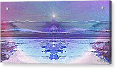 934 - Magic Light Beacon 2017 Acrylic Print by Irmgard Schoendorf Welch