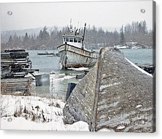 A Bit Of Maine History Acrylic Print by Christopher Mace