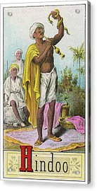 A Hindu Snake Charmer Acrylic Print by Mary Evans Picture Library
