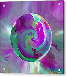 Acrylic Print featuring the painting   Perpetual Morning Glory by Robin Moline