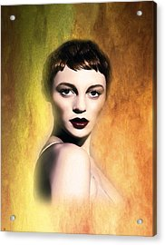 A Portrait Of Isabella Acrylic Print by Tyler Robbins