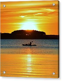A Reason To Kayak - Summer Sunset Acrylic Print