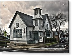 A Spooky Looking Church In Chino Acrylic Print by Gregory Dyer