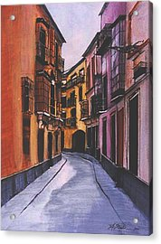 A Street In Seville Spain Acrylic Print