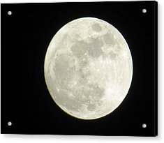 A Winter'sfullmoon Over Ga Acrylic Print by Aaron Martens