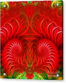 Abstract Background  Acrylic Print by Odon Czintos