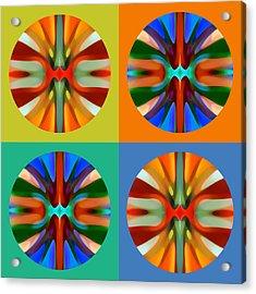 Abstract Circles And Squares 2 Acrylic Print by Amy Vangsgard