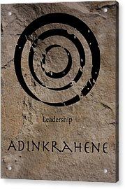 Adinkra Adinkrahene Acrylic Print