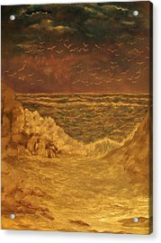 Acrylic Print featuring the painting   After  The  Storm by Beth Arroyo
