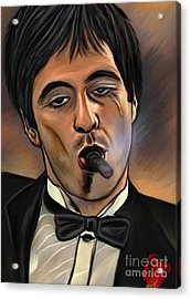 Al Pacino-godfather Acrylic Print