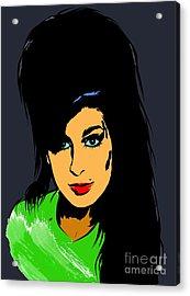 Amy  Winehouse Acrylic Print by Andrzej Szczerski