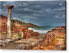 Ancient Ruins In Kefalos Kos Greece Acrylic Print