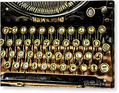 Antique Keyboard Acrylic Print by Christopher Holmes