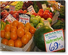 At The Market Stand Acrylic Print