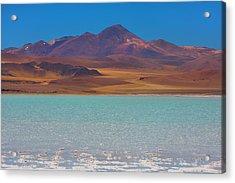 Atacama Salt Lake Acrylic Print