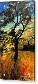 Acrylic Print featuring the painting  Autumn Tree by Maja Sokolowska