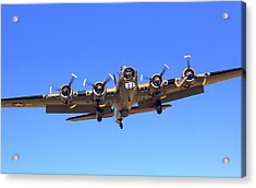 B17 Flying Fortress On Approach At Livermore Klvk Acrylic Print