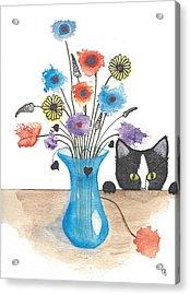 Bad Kitty Acrylic Print
