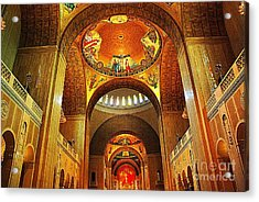 Acrylic Print featuring the photograph  Basilica Of The National Shrine Of The Immaculate Conception by John S