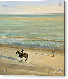 Beach Dialogue Dunwich Acrylic Print by Timothy  Easton