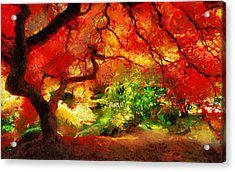 Acrylic Print featuring the painting  Beautiful Autumn by Georgi Dimitrov