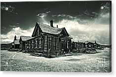 Bodie Ghost Town Panorama 02 Acrylic Print by Gregory Dyer