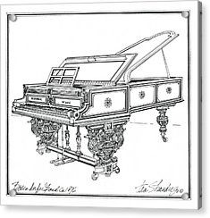 Acrylic Print featuring the drawing  Bosendorfer Centennial Grand Piano by Ira Shander