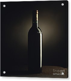 Bottle Of Bordeaux Wine Acrylic Print by Bernard Jaubert