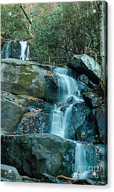 Acrylic Print featuring the photograph  Bottom Of Laurel Falls by Patrick Shupert