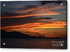 Acrylic Print featuring the photograph  Burning Sky by Michelle Meenawong