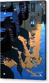 Canal Shimmer Acrylic Print by Jacqueline M Lewis