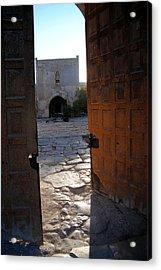 Caravanserais Central Gate - Anatolia Acrylic Print by Jacqueline M Lewis