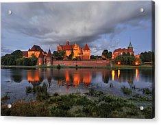 Castle Acrylic Print by Jan Sieminski